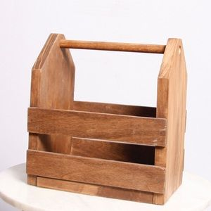 Other - Rustic Wood Caddy Catch All Crate Farmhouse Decor